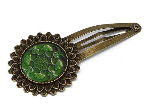 Clip pelo Lisboa Azulejos resina verde latón bronce resina pelo regalos personalizados navidad amigos cumpleaños invitados boda ceremonia pareja mujer mamá