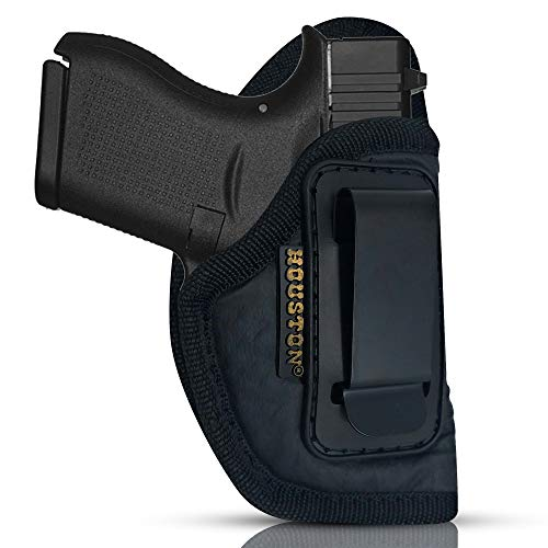 ECO Leather Concealment Holster Inside The Waist with Metal Clip FIT Glock 43 & 42, SIG P365, KAHR PM 45, MAKAROV, KELTEC PF9 / P11 (Right) (CHP-58A-RH)