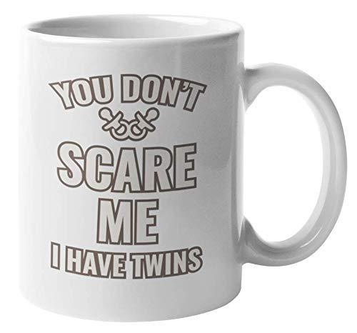 N\A No te asustes. Tengo Gemelos. Taza de Regalo de café y té de mamá para tía Gemela o mamá, tía Que es Madre de Gemelos y Hermana Mayor Que es Madre de Gemelos