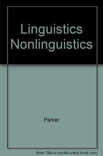 Linguistics for Non-linguists
