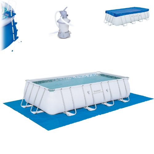 Bestway Pool 549x274x122 Pool Komplettset inkl. Sandfilter Leiter usw.. Stahlwand Mig-6026