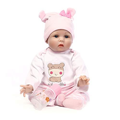 Reborn Baby Dolls 22 inch,Quality Realistic Handmade Babies Dolls Girls Soft Vinyl Silicone Lifelike Kids Gifts   Toys Age 3+, EN71 Certification