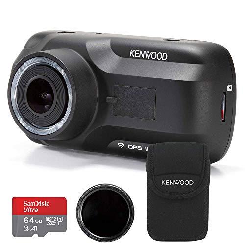 Kenwood DRV-A501W Travel ProPack 64GB SDXC Card, Polarised Filter + Carry Case Bundle