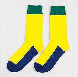 5 pares de invierno y otoño gruesos cálidos cálidos calcetines felices calcetines creativos calcetines de navidad de los hombres