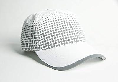 MUN Gear White Reflective Running Hat Dot Pattern Men Women Athletic