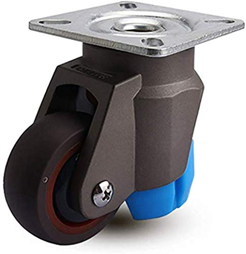 SHOP YJX Footrest 2 Castors PCS Heavy Duty Transport Wheels, 2 Inches, 50 Mm Universal Brake, Horizontally Adjustable F-D * 2 Silencer Casters