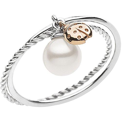 anello donna 750 Comete Anello Donna Fantasia di Perle in Oro Bianco 750 ANP364