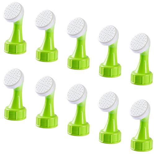 OYSJ 10 Piezas Tapas de riego para Botellas de plástico,plástico pequeña Bonsái Regadera para Planta Riego, regadera de la Ducha Cabeza Herramienta para el jardín