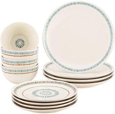 Rachael Ray Cucina Sun Daisy 12 Pc Stoneware Dinnerware Set Dinnerware Sets