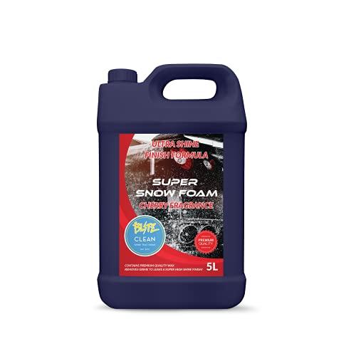 Blitz Clean Super Snow Foam Cherry Fragancia Ultra Shine Acabado Super Wax Wash Car Detailing Pro (Cereza)