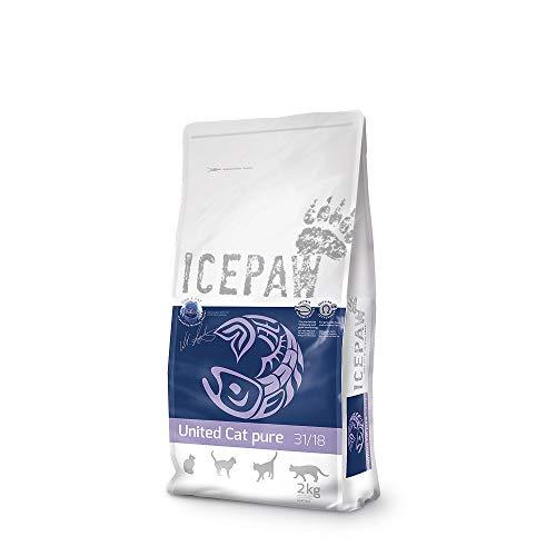 ICEPAW United Cat Pure Trockenfutter für Katzen, 1 Beutel (2 kg)