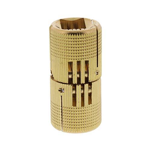 ToniTec Einbohrscharnier unsichtbar Exakt Zylinder Scharnier Möbelband messing