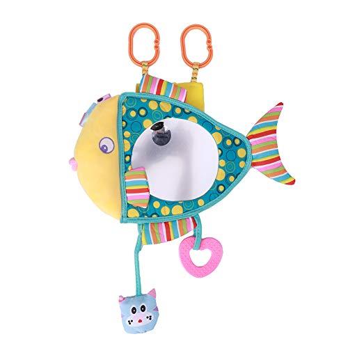 Espejo del asiento trasero del bebé, espejo retrovisor del bebé, dibujo animado en forma de pez para el bebé de los niños(Small fish)