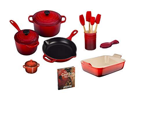 Le Creuset 14 Piece Cookware Set Cerise