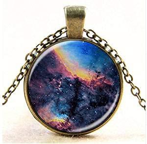 Collares de cristal de la galaxia de Nebula Space Cabujon Colgantes de la marca Joyería para mujeres y hombres Mejor Regalo de Amigo