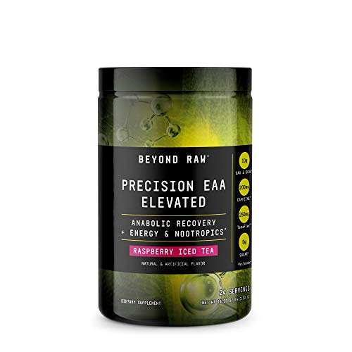 Beyond Raw Precision EAA Elevated - Raspberry Iced Tea, 24 Servings, Anabolic Recovery for Muscles