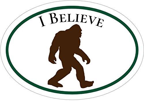 Oval I Believe Bigfoot Vinyl Decal - Sasquatch Bumper Sticker - Bigfoot Sticker
