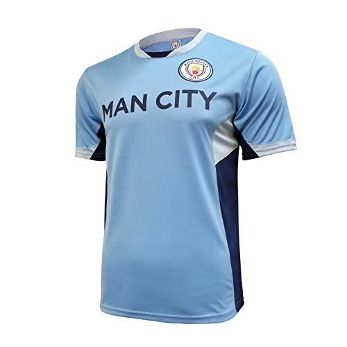 Icon Sports Manchester City F.C. Stadium Class Jersey (Small, Man City Wordmark)
