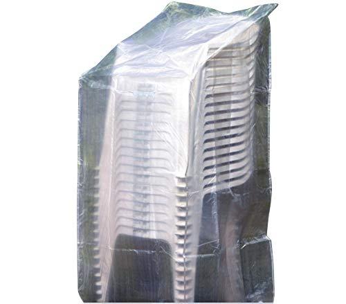 Schutzhülle 65x65x110/150cm weiß Gartenstühle Schutzhaube Abdeckung