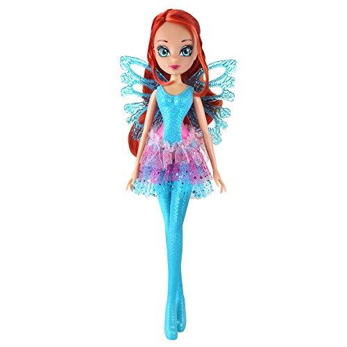 Giochi Preziosi Wing Winx Sirenix Bubbles Wings Bloom con Ali e Scettro Effetto Bolle Personaggio, Multicolore, WNX53100