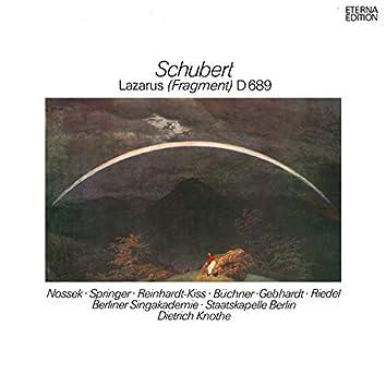 Schubert: Lazarus (Die Feier der Auferstehung)