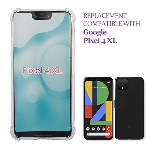 Carcasa de swark compatible con Google Pixel 4 XL, funda Ttimao, suave, transparente, de silicona TPU, con acolchado de aire, diseño Drop Protection, ultradelgada, antichoque, antiarañazos