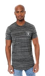 Ultra Game NFL Las Vegas Raiders Mens Active Basic Space Dye Tee Shirt, Space Dye, Medium from Icer Brands