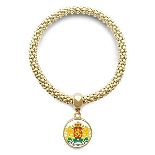 DIYthinker Damen Sofia Bulgarien National Emblem Goldene Armband Laufende Anhänger Schmuck-Kette