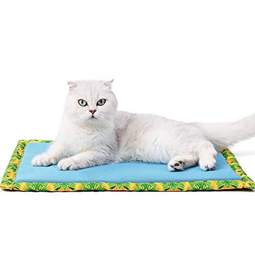 FUNAT Colchoneta de Verano para Perros y Gatos, Alfombra para Mascotas para Refrescarse y Dormir, Estera de Enfriamiento para Perros en Verano