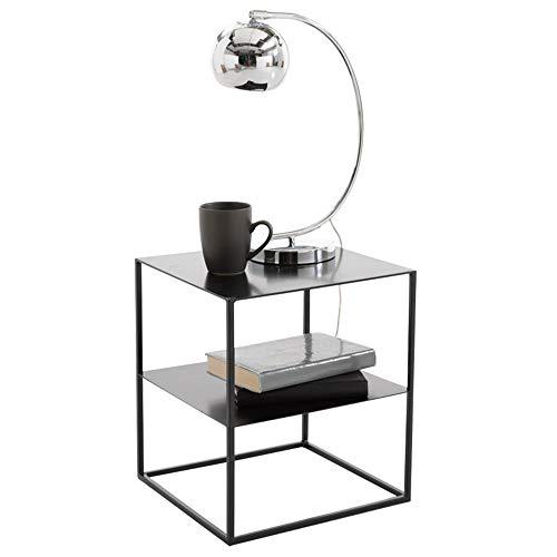 Desks DD eindtafel, salontafel of bijzettafel voor woonkamers zwart glas 2 Tier moderne standaard -werkbank