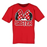 Disney Family Collection Girls Red Mickey Mouse Sister Shirt, Small