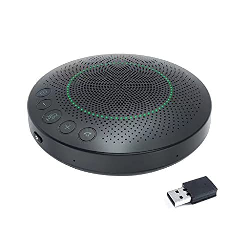 Kingjinglo Bluetooth Wireless 360° Voice Pickup 6 Microphones USB Speakerphone Conference Call Speaker for Conference Bluetooth Microphone