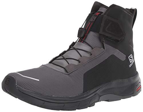 Salomon Men's T-Max Wr Snow Boots, Black/Black/Magnet, 8