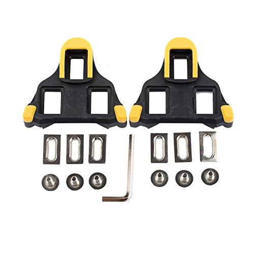 Hothuimin Bike tacchetti autobloccante ciclismo bicicletta tacchette compatibili con Shimano & look # 1–009, Yellow