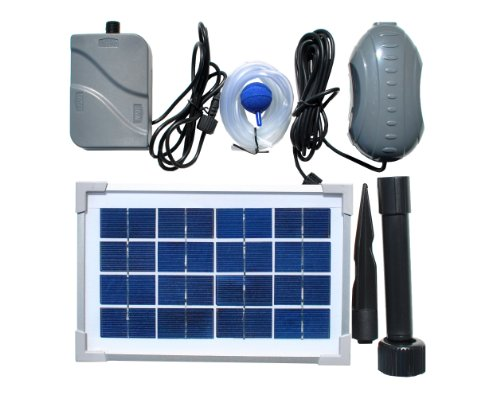Solarrific G4042 3.5 Rechargeable Air Pump Kit for Fish Pond