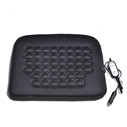 dewdropy - Cojín térmico para coche, 12 V, universal, termostato, asiento de calado termostático