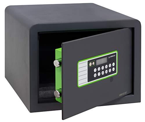Arregui Supra Morotizada 240220 Caja fuerte de sobreponer, 6 mm de espesor, apertura electrónica motorizada, 25x35x25 cm, 16 L