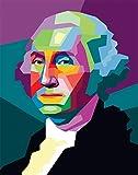 George Washington Poster – Pop Art Präsident Portrait