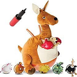 Hopping Hop Hopper Ball Jumping Kangaroo with Handles Plush
