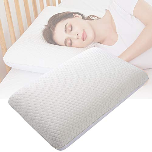 Nesaila Doubled-Sided Gel Memory Foam Pillow and Cooling Pillow, Bed Pillows for Sleeping, Neck Pillow for Pain Relief Sleeping, Best for Side Back Stomach Sleepers-Doubled Pillow Covers (White)