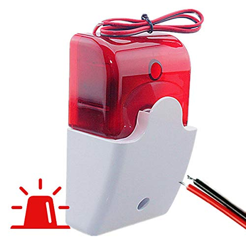 Sirena Exterior con LUZ Caja Leds. Avisador alarmas. Luminosa Alarma Externa con...