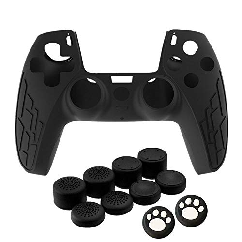 PS5 Controller Skin, Anti-Slip Silicone Cover for Playstation 5 Controller, Silicone Skin Protective Cover Case for PS5 DualSense Wireless Controller