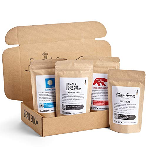 Bean Box Gourmet Coffee Sampler box