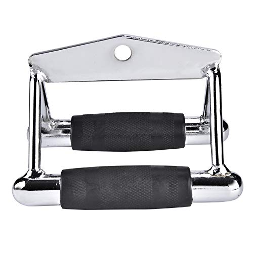 Ejoyous Cable Machine Attachments for Gym Chinning Triangle Bar Exercise Handles V Row Rowing Machine Handle Set Pull Down Exercise Handles Steel for Triceps Biceps Back Shoulders 18 13 12cm