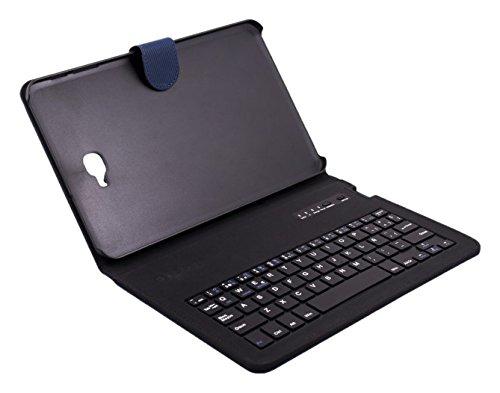 Silver HT - Funda con Teclado Bluetooth para Samsung Galaxy Tab A de 10.1 Pulgadas (SM T-580 Y SM T-585), Color Azul
