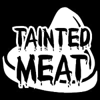 ステッカー剥がし 12.8センチメートル* 11.5センチメートル興味深い汚染された肉ウォーキング・デッドビニールステッカー車のステッカーブラック/シルバー ステッカー剥がし (Color Name : Silver)