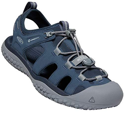 KEEN Men Solr Sandal, 10,0US Men/43 EU, Navy/Steel Grey
