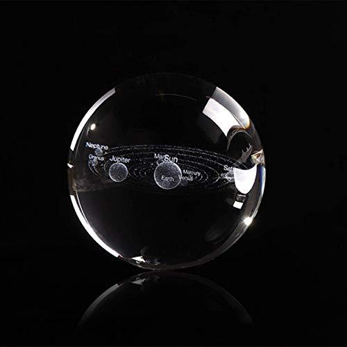 Fashio. 6cm 3D Planeten Kugel Kristall Sonnensystem Globe Miniatur Glas Modell Ball Feng Shui Wohnkultur Zubehör Ornament Kid Geschenk (Color : Just Ball)