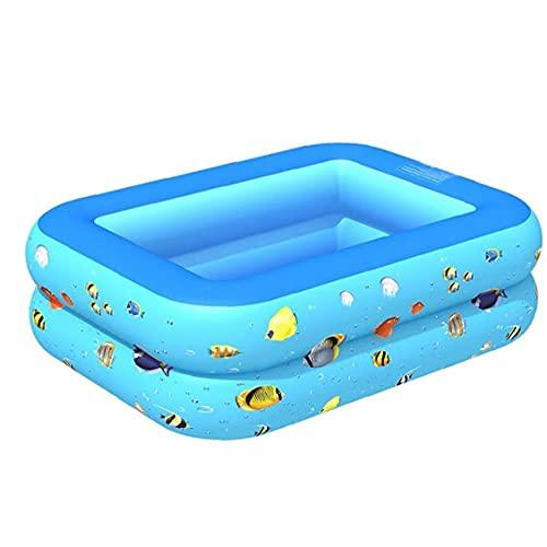 GGOOD Aufblasbarer Schwimmbad große 2-Schicht-Babykind Wasserspielpolsterung Badewanne 115x90x35cm Aquatic Sports