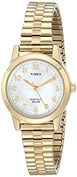 Timex Women s T2M827 Essex Avenue Gold-Tone Stainless Steel Expansion Band Watch